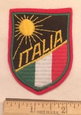 Italy ITALIA Sunrise Sunshine Italian Flag Colors Souvenir Patch Badge