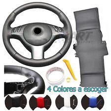 Funda de volante para Bmw E46 sedan Pack M combina cuero negro liso + perforado