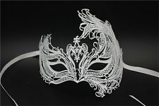 Venetian Swan Style Metal Mask Filigree Masquerade Party Prom Ball Fancy Dress