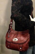 FOSSIL Reddish Brown Leather Crossbody Maddox