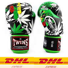 Twins Special Fbgvl3-54 Cannabis leave Boxing MuayThai gloves +Dhl Express3-5Day