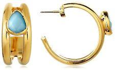 Quartz Boho Hoop Earrings New Janna Conner Gold