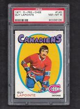 1971 OPC #145 Guy Lapointe HOF PSA 8 NM-MT Montreal Canadiens NHL Hockey 1971-72