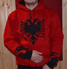 New Winter Albania Albanian Flag Men's Long Sleeve Hoodie T-shirt 2XL