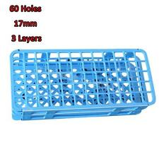 1pc 60Holes 17mm 3 Layers Plastic Test Tube Rack Holder Storage Stand Lab Supply