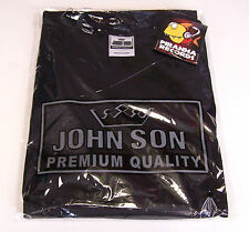 BLACK JohnSon Heavy Weight Cotton 2XL V-Neck T-Shirt Piranha Records