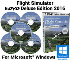 Simulador De Vuelo Deluxe Edition 2016 Flight Sim Windows XP PC 10 8 7 en 5 Dvds