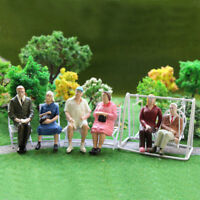 6pcs G scale Figures 1:22.5-1:25 All Seated  Painted People Model Railway P2511