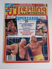 Pro Wrestling Illustrated Magazine September 1986 Supercards '86