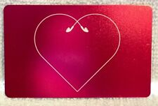 Vintage Apple iTunes Red Heart Earbuds Foiled Gift Card Collectible - No Value