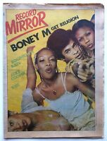 RECORD MIRROR 16 DEC 1978 BONEY M BOOMTOWN RATS ALICE COOPER KISS VALVES DICKIES