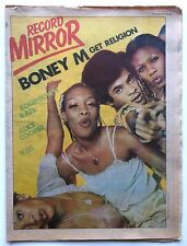 RECORD MIRROR 16 DEC 1978 BONEY M BOOMTOWN RATS ALICE COOPER KISS VALVES DICKIES