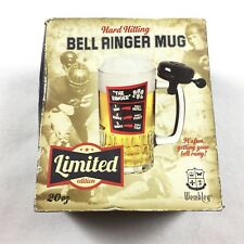 NEW Bell Ringer Beer Mug with Bicycle Bell 20 oz. Glass WEMBLEY Gage Gift