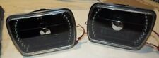 "JEEP, FORD, CHEVY 7X6""  Black Housing LED  Pair Glass Headlights, No Bulbs"