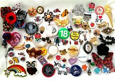 More details for job lot of 70+ badges brooches  pins  patches as pictured ref:f177