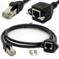 0.5m RJ45 Ethernet Extension Cable Cat 5E /5 Cat 6 Male to Female Shielded Screw