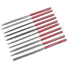 10pc Needle File Set High Carbon For Metalwork Soft Grip Jewellers Micro Small