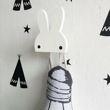 Fashion Rabbit Shape Clothes Wall Hook Hangers Rack Organizer Kids Room Hanging