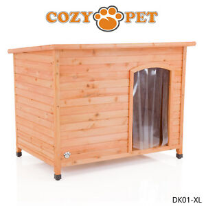 Dog Kennel by Cozy Pet XL Size Insulated Wooden Puppy Kennels House DK01XL
