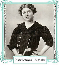 Vintage downton abbey era crochet pattern-How to make a stylish vintage jacket