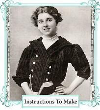Vintage downton abbey era crochet pattern-How to make a stylish vintage jacket