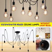Vintage Pendant Ceiling Shade Glow shade Chandelier Light Retro Spider  y