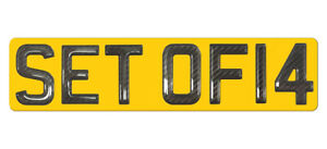 ONE Set of 14 Gel Ltd Ed CARBON Numberplate Digits (Plates not included) 14 ONLY