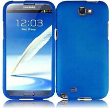 For Samsung Galaxy Note II 2 Rubberized HARD Protector Case Phone Cover Blue