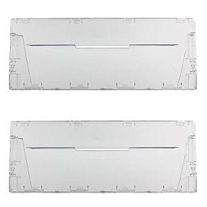 Plastic Drawer Panel Flap Front for Indesit Fridge Freezer x 2