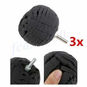 "3x Black 3"" Polishing Ball Buffing Finishing Pad Car Polisher Waxing Accessories"
