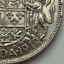 CANADA 1949 WIDE DATE 50 CENTS KING GEORGE VI  .800 SILVER  C1