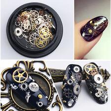 Steampunk 3D Gear Wheel Nail Art Decoration Alloy Tips Rock Machine Metal Studs#