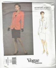 Vogue Emanuel Ungaro NEW UNCUT Pattern 1330 Sizes 8-12 Jacket & Skirt Advanced