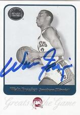 Walt Frazier Autographed Signed 2001 Gotg card Salukis New York Knicks Coa