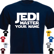 Jedi Master Your Name Custom Brand New Present Gift Tshirt
