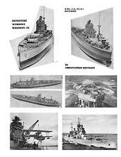 Model Ship Plans Scale 1/192 1/240 Battleship HMS Rodney for R/C & Build Notes