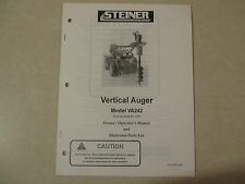 Steiner Va242 Va 242 post hole digger owners & maintenance & parts manual