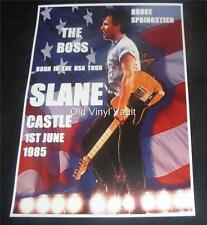 Bruce Springsteen concert poster Slane Castle Ireland 1985  A3 size repro