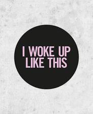 "Beyonce Sticker! ""I woke up like this"" flawless, drunk in love, Beyoncé Knowles"