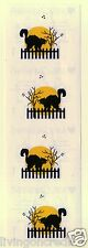 Mrs Grossman (Grossman's) Stickers - Halloween Cat On Fence With Ghosts