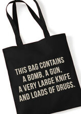this bag contains a bomb... stoffbeutel tote bag black