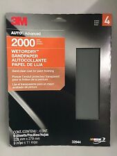 3M WETORDRY Sandpaper 5 pack 2000 grit #32044 FREE SHIPPING!