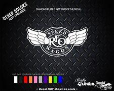 "REO Speedwagon Rock Band Music Classic Car Decal Laptop Sticker - WHITE 6"""