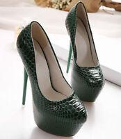 New 17cm Women Platform Snakeskin High Heels Pumps Stiletto Party Clubwear Shoes