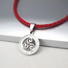 Modeschmuck-Halsketten aus Leder Triskele