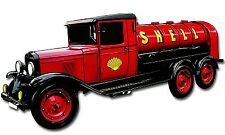 """Shell Gasoline and Oil Service Retro Tanker Truck Metal Sign 20"""" X 10"""" SHL040"""