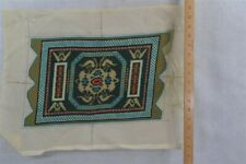 pettipoint seat chair stool cover needlepoint 10 x 16 mat doll rug hand made