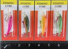 "FOUR Minnow Crankbaits (Mini 2-5/8"" long) Lures COMBINE SHIPPING!"