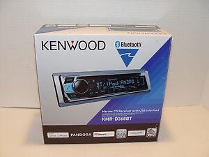 New Kenwood KMR-D368BT Marine CD receiver with Bluetooth USB Pandora