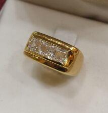 ANELLO  zirconi donna mignolo    oro GIALLO   750 mm / 18KT